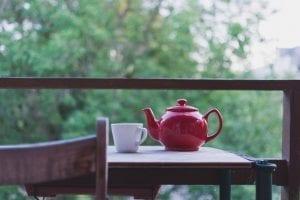 Green Tea Pot & Cup