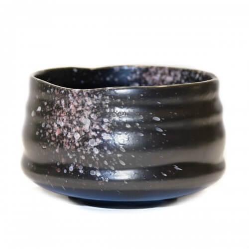 Premium Ceramic Chawan Matcha Bowl - Black