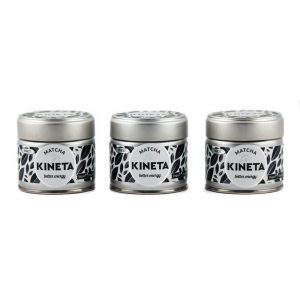 3 x 30g Tin Kineta Finest Matcha Tea Super Set Saver Lined Up