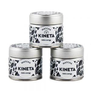 3 x 30g Tin Kineta Finest Matcha Tea Super Set Saver Pyramid