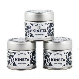 3 x 30g Tin Kineta Finest Matcha Tea Pyramid