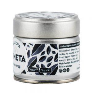 30g Tin Kineta Finest Matcha Tea side view