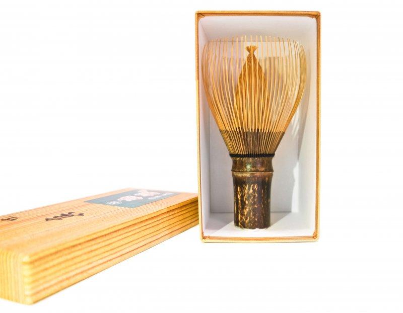 Premium Handcrafted Chasen Matcha Whisk & Gift Box