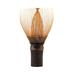 Hand-Crafted Japanese Bamboo Chasen Matcha Whisk Stood On Its Handle 1000px - 1000px