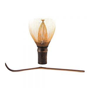 Handcrafted Japanese Bamboo Chasen Matcha Whisk And Chashuku Purple Bamboo Matcha Spoon