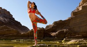 Woman Stretching While Standing On One Leg - Yerba Mate And Matcha Blog banner